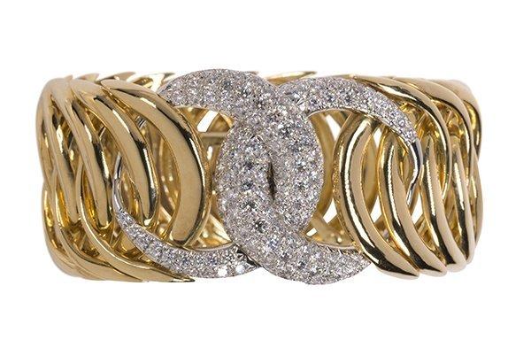 "Verdura ""Double Crescent"" diamond, 18K yellow gold and"