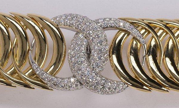 "Verdura ""Double Crescent"" diamond, 18K yellow gold and - 4"