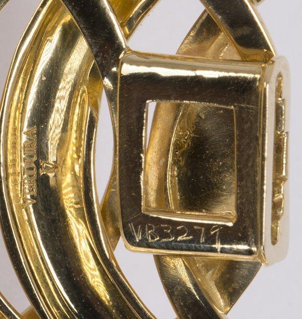 "Verdura ""Double Crescent"" diamond, 18K yellow gold and - 5"