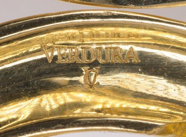"Verdura ""Double Crescent"" diamond, 18K yellow gold and - 6"