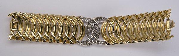 "Verdura ""Double Crescent"" diamond, 18K yellow gold and - 7"