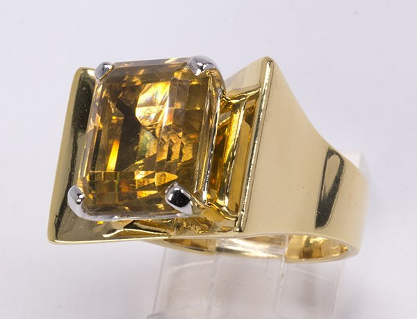 Citrine and 14k yellow gold ring - 2