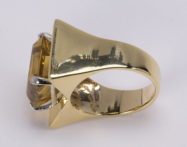 Citrine and 14k yellow gold ring - 3