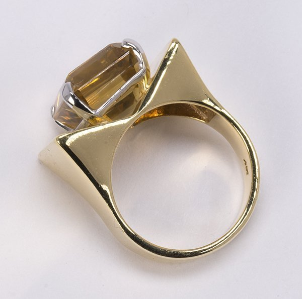 Citrine and 14k yellow gold ring - 5