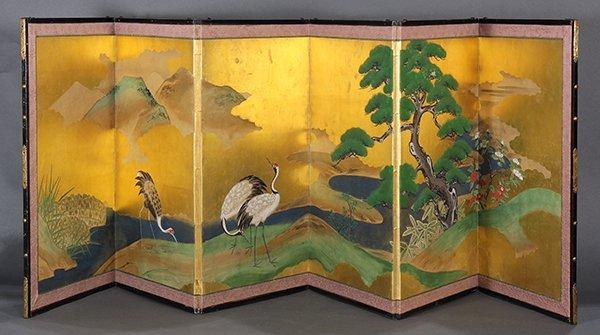 Japanese Six-panel Table Screen
