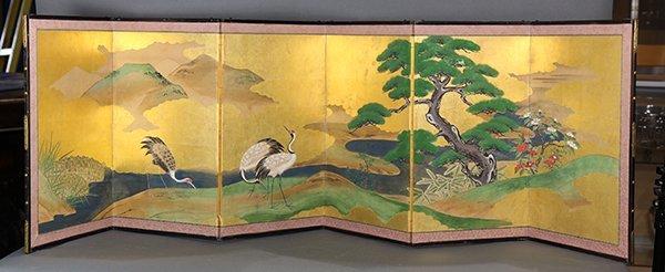 Japanese Six-panel Table Screen - 3