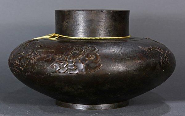 Japanese  Large Bronze  vase/jar - 2