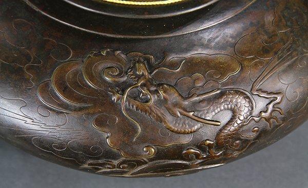 Japanese  Large Bronze  vase/jar - 8