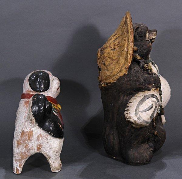 Japanese Okimono, Inu-hariko Edo period, Tanuki, Censor - 2