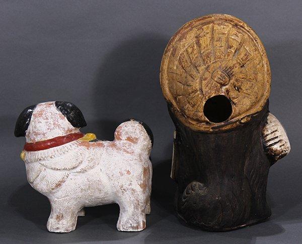 Japanese Okimono, Inu-hariko Edo period, Tanuki, Censor - 3