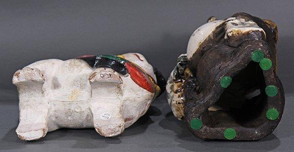 Japanese Okimono, Inu-hariko Edo period, Tanuki, Censor - 5