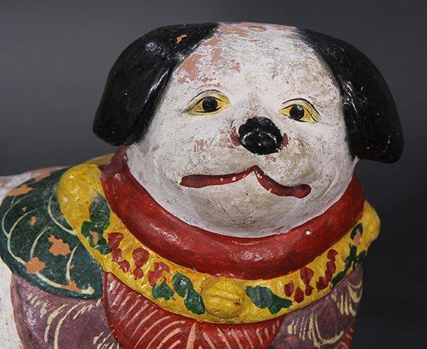 Japanese Okimono, Inu-hariko Edo period, Tanuki, Censor - 7
