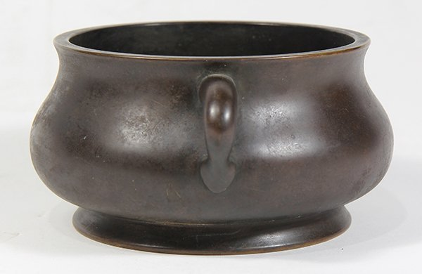 Chinese Patinated Bronze Censer - 2