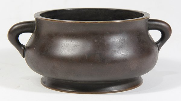 Chinese Patinated Bronze Censer - 3