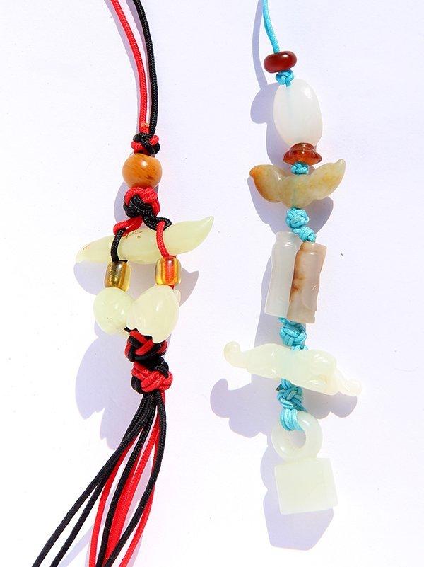 Chinese Jade/Hardstone Beads - 3