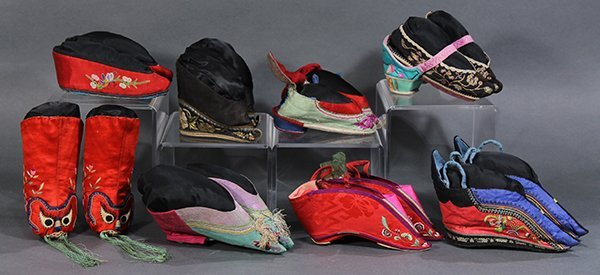 Group of Chinese Embroidered Shoes