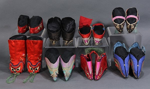 Group of Chinese Embroidered Shoes - 2