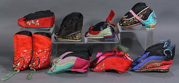 Group of Chinese Embroidered Shoes - 3