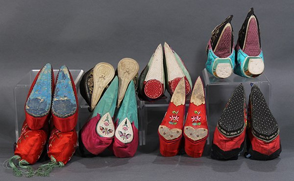 Group of Chinese Embroidered Shoes - 5