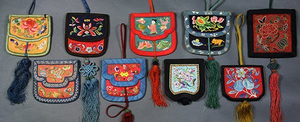 Chinese Embroidered Wallets