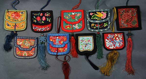 Chinese Embroidered Wallets - 2