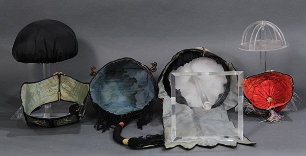 Four Chinese Embroidered Hats - 5