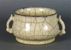 Chinese Guan-type Handled Censer