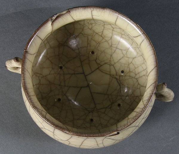 Chinese Guan-type Handled Censer - 5