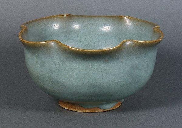 Chinese Jun-type Foliate Rim Bowl