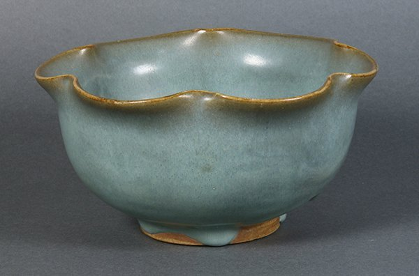 Chinese Jun-type Foliate Rim Bowl - 4