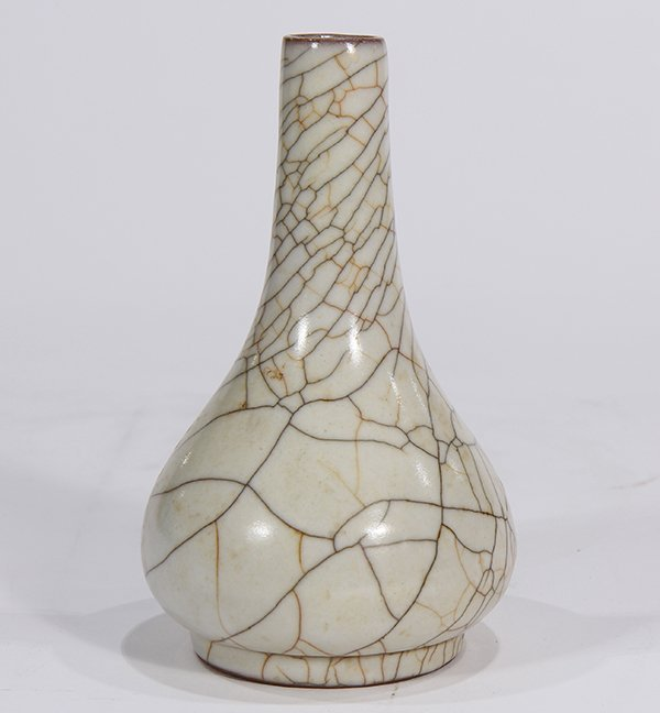 Chinese Ge-type Pear Form Vase - 5