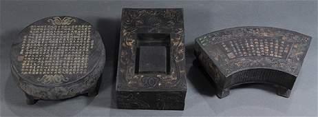 Three Chinese Ink Blocks