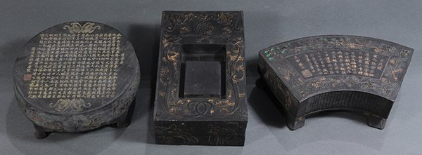 Three Chinese Ink Blocks