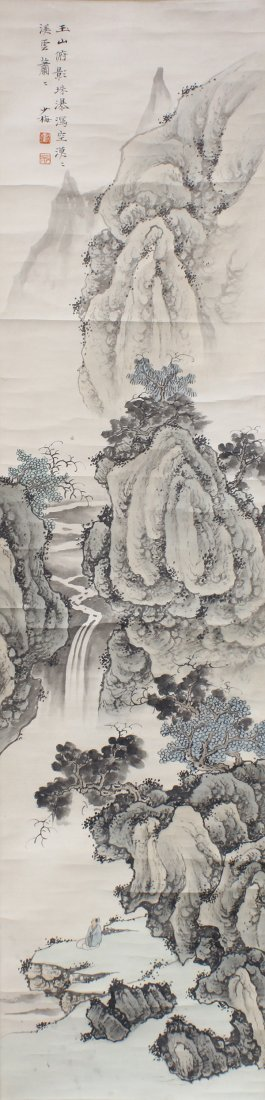 Chinese Scroll, Manner of Chen Shaomei, Landscape