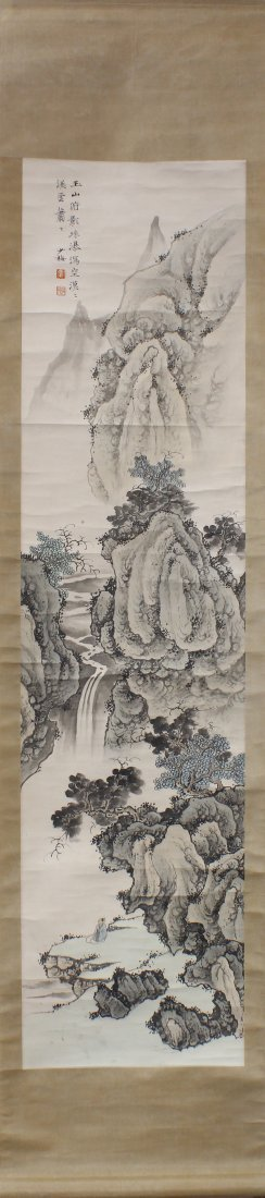 Chinese Scroll, Manner of Chen Shaomei, Landscape - 2