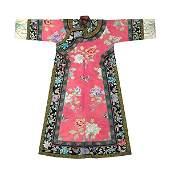 Chinese/Manchu Pink Ground Robe