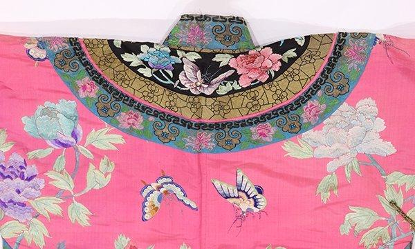 Chinese/Manchu Pink Ground Robe - 4