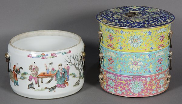 Two Chinese Porcelain Containers