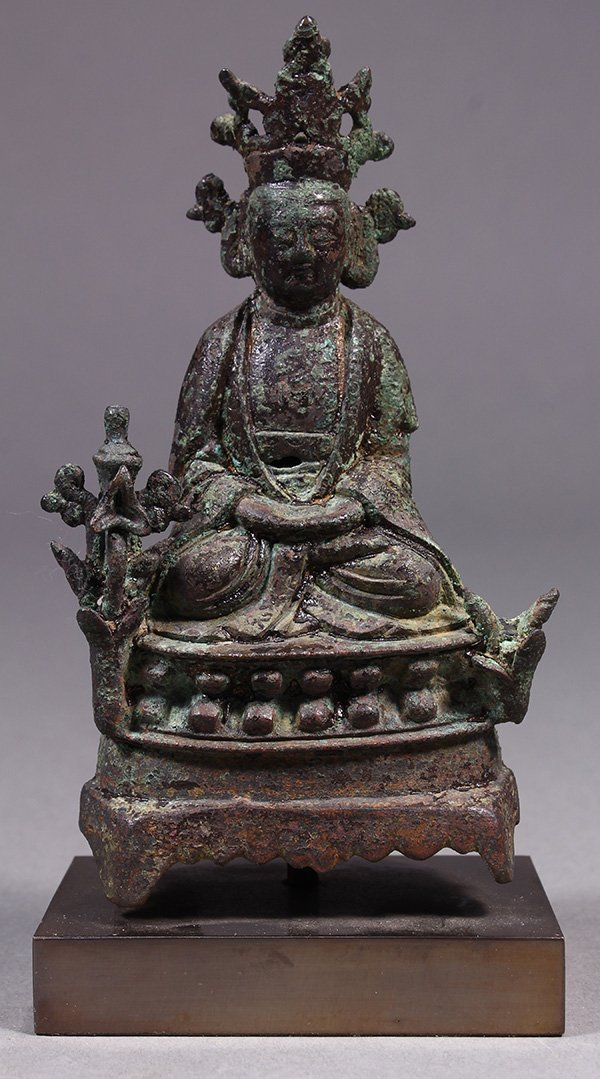 Chinese Bronze Sculpture of a Deity