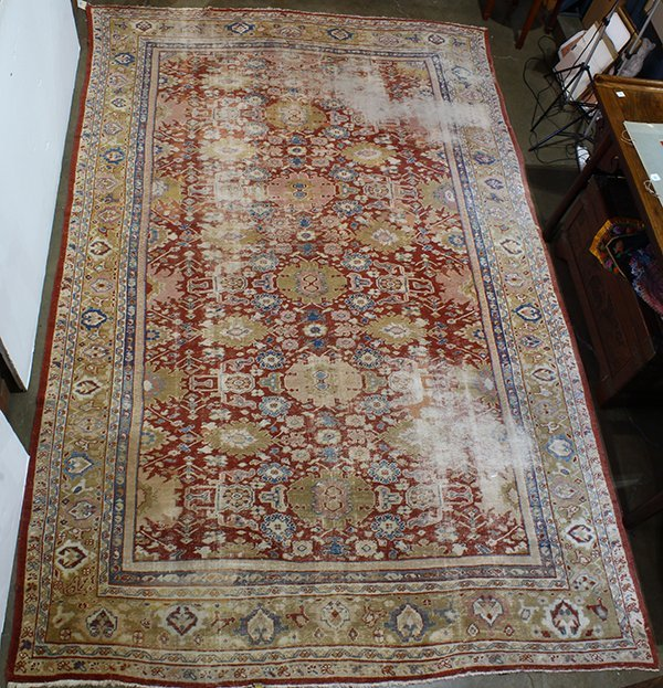 Antique (19th century) Persian Mahal carpet, 13'6'' x