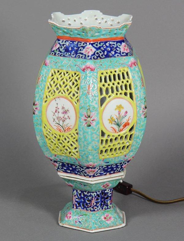 Chinese Porcelain Lantern/Lamp - 2