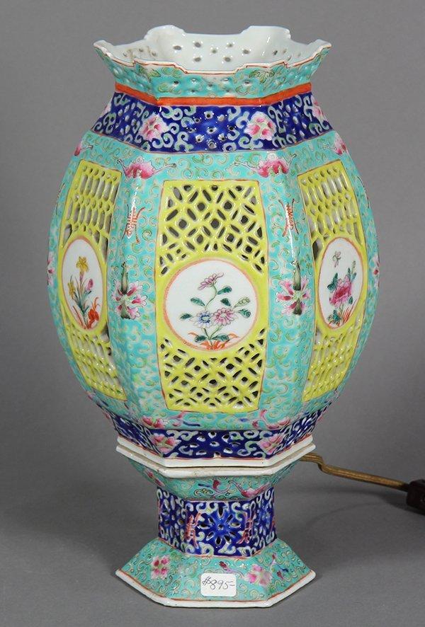 Chinese Porcelain Lantern/Lamp - 3