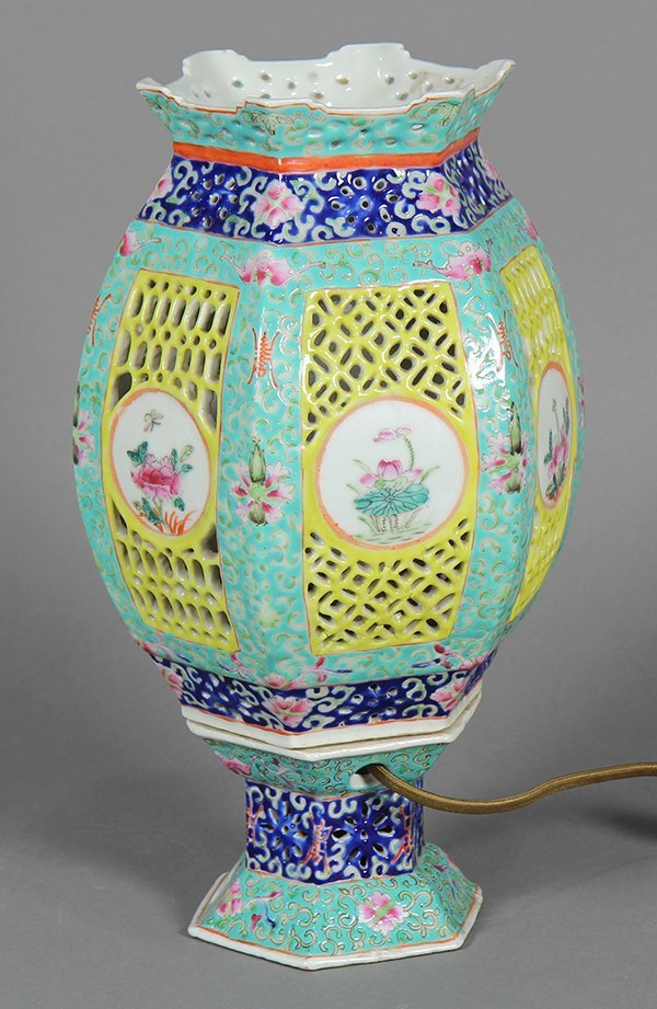 Chinese Porcelain Lantern/Lamp - 4