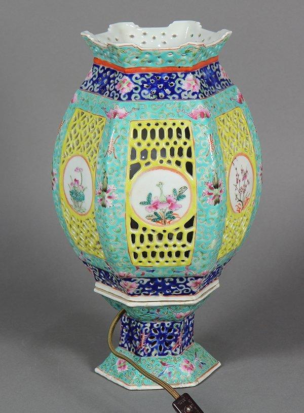 Chinese Porcelain Lantern/Lamp - 5