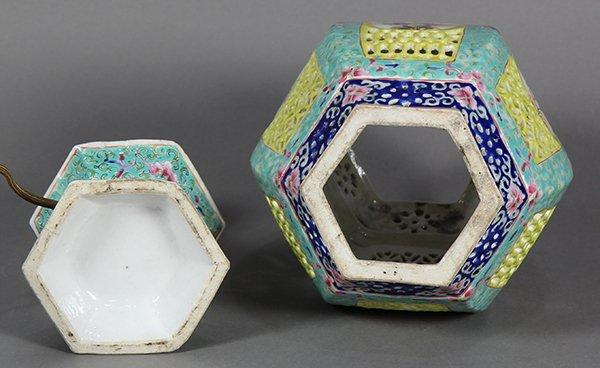 Chinese Porcelain Lantern/Lamp - 6