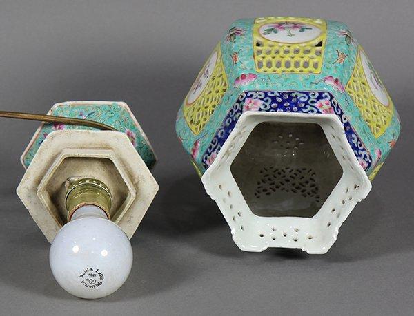 Chinese Porcelain Lantern/Lamp - 7