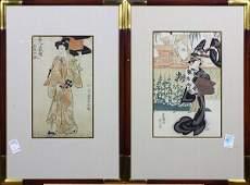 Japanese Woodblock Prints Utagawa Toyokuni I  19c