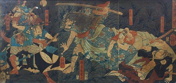 Japanese Woodblock Prints,Yoshitoshi, Toshitsuya,  19c - 2