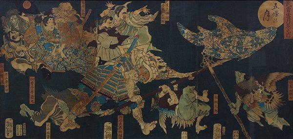 Japanese Woodblock Prints,Yoshitoshi, Toshitsuya,  19c - 3