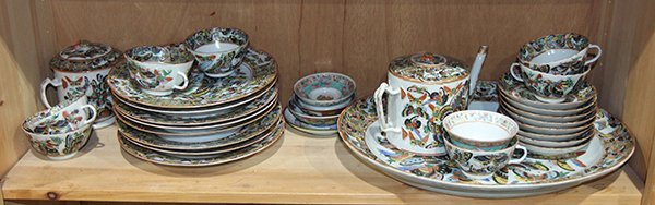 One Shelf of Chinese Export Porcelain, Butterfly